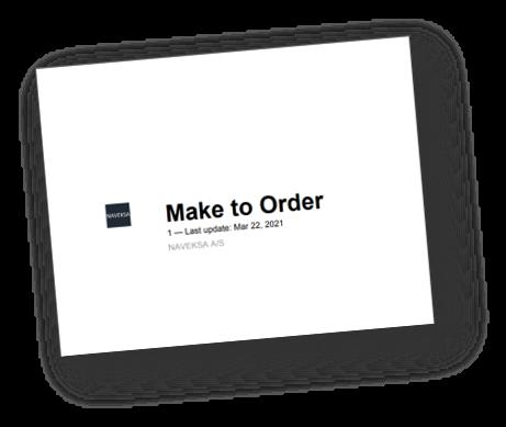 NAVEKSA MakeToOrder Manual
